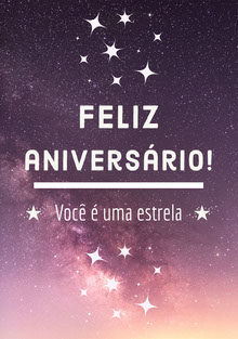 you're a star birthday cards  Cartão de aniversário