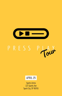 Yellow and Black Tour Poster Play Poster