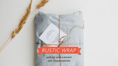 Rustic Gift Wrapping Blog Post Graphic Crafts