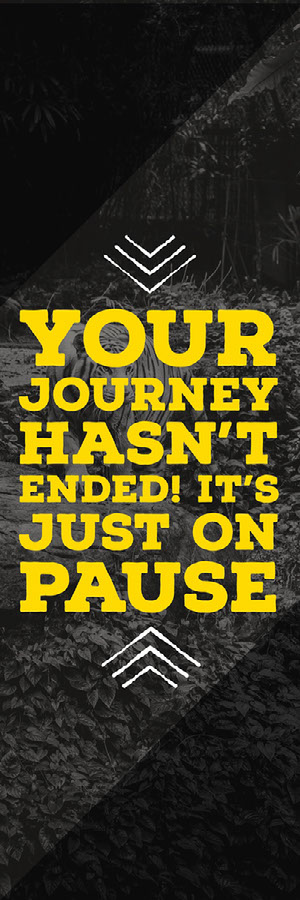 Yellow and Black Paused Journey Bookmark  Bookmark