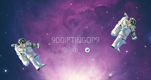 Outer Space Style Twitch Banner with Astronauts Banner per Twitch