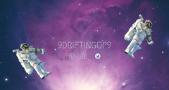 Outer Space Style Twitch Banner with Astronauts Galaxy