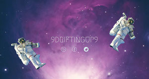 Outer Space Style Twitch Banner with Astronauts Video Player Banner for Twitch