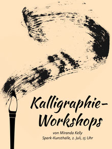 calligraphy workshop event poster  Poster