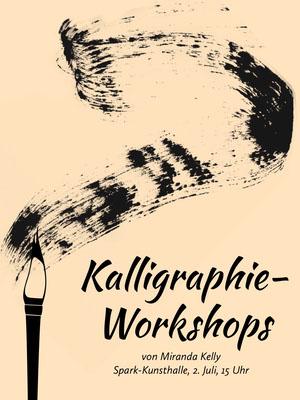 calligraphy workshop event poster  Veranstaltungsplakat