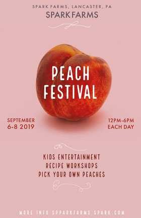 Peach Festival Folleto de invitación a evento