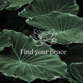 Find your peace Tekst op foto's