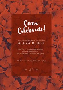 Come Celebrate! Convite de casamento