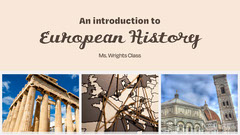 cream brown European history lesson YouTube thumbnail  History