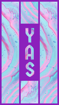 Violet and Blue Yas Wallpaper Positive Thought