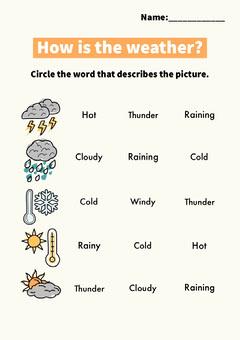 weather worksheet Kids