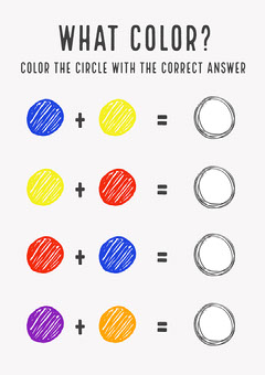 Color Learning Worksheet Education