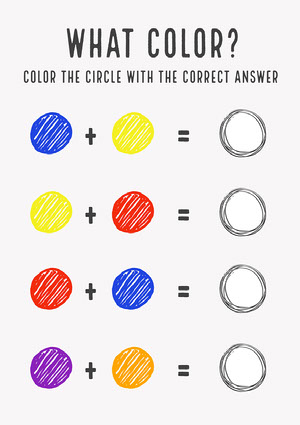 Color Learning Worksheet Worksheet