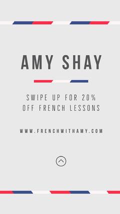 Grey French Tutor Instagram Post Tutor Flyer