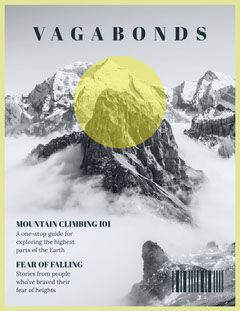 vagabonds travel magazine cover  Mountains