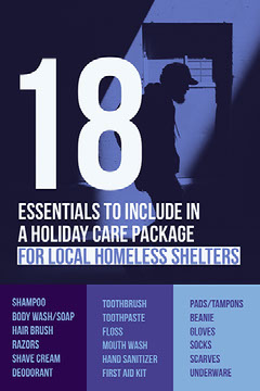 Blue and Black List of Essentials to Homeless Shelters Flyer Instagram Story Instagram Flyer
