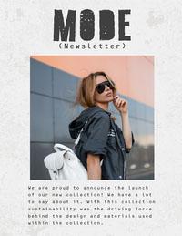 White Mode Newsletter Newsletter Examples