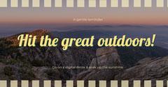 great outdoors facebook Adventure