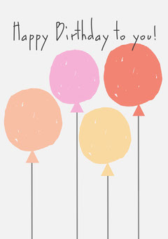 Multicolored Balloons Happy BirthdayCard Birthday