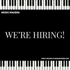 music piano we're hiring igsquare Now Hiring Flyer