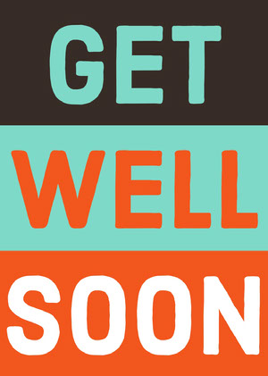 Colorful Get Well Soon Card God bedring-kort