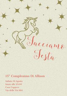 stars and unicorn birthday cards Biglietto di compleanno