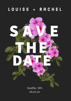 SAVE Save the date-kort