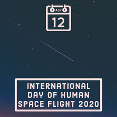 international day of human space flight instagram square Space