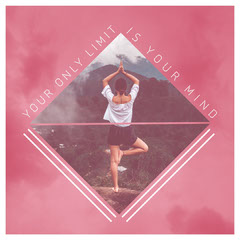 Pink Triangle Collage Quote Instagram Square Sky