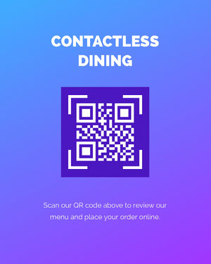 contactless dining instagram portrait  COVID-19 Re-opening