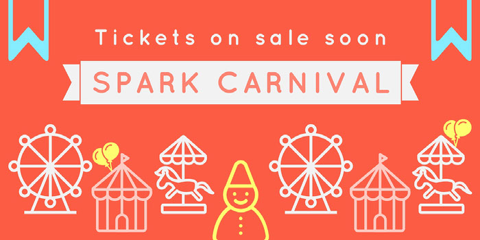 Grey and Orange Spark Carnival Social Post  Ideas de banner YouTube