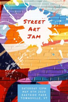 street art jam flyer  Paint
