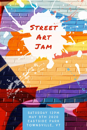 Colorful Street Art Jam Flyer  Flyer