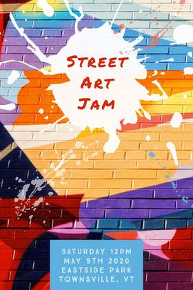 street art jam flyer  Folleto de invitación a evento