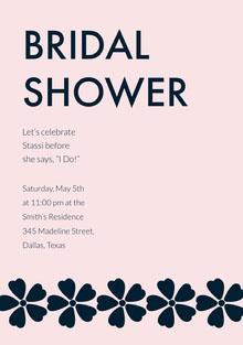 BRIDAL <BR>SHOWER Wedding Invitation