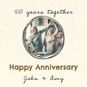 Happy Senior Couple Photo Marriage Anniversary Instagram Square  Anniversary Card Messages