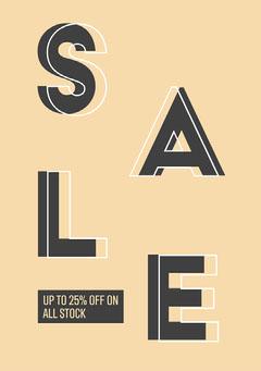 Beige 25% Sale Flyer Discount