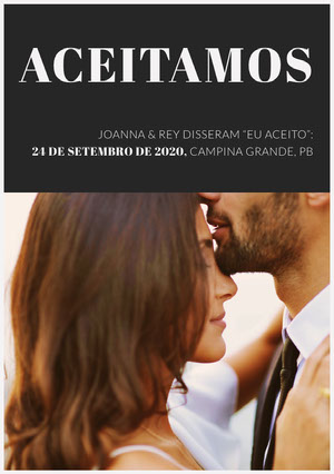 we did wedding announcements  Anúncio de casamento