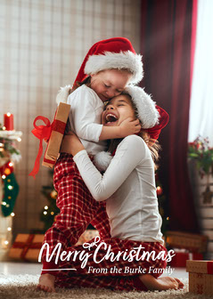 Merry Christmas Children Card Kids