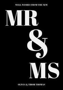 & Tarjetas de agradecimiento de boda