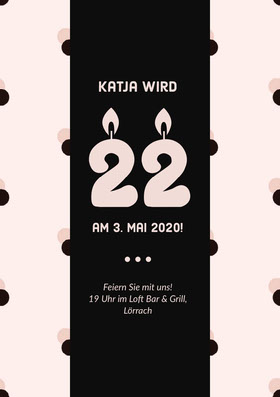 Katja wird  Einladung zum Geburtstag