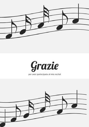 music recital thank you cards  Biglietto di ringraziamento