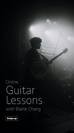 guitar lesson instagram story Music Lessons Flyer