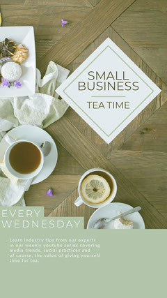 SMALL<BR>BUSINESS Tea Time