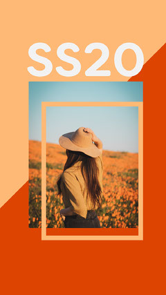Orange New Season Collection Clothing Store Instagram Story Ad with Woman in Hat  New Collection