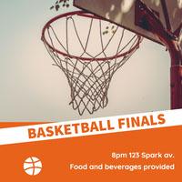 Orange Basketball Finals Card Basketball