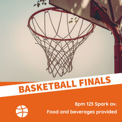 Orange Basketball Finals Card Game Night Flyer