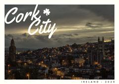 Dark Toned, Illuminated Cityscape, Postcard City