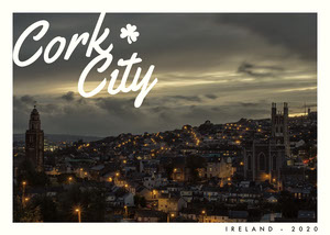 Dark Toned, Illuminated Cityscape, Postcard Tarjetas postales