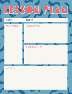 abstract lesson plan  Pattern Design